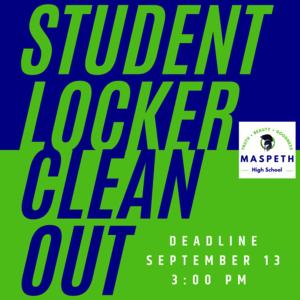Student Locker Cleanout