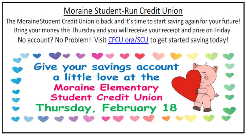 Moraine Credit Union February Deposit Day