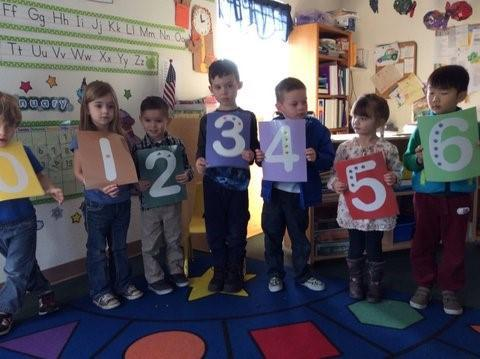 children holding large numbers