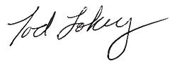 Tod Lokey signature