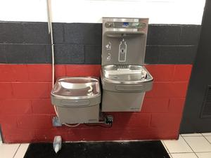 Bottle filling station at Ashland City Elementary School
