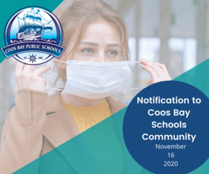 Pic - Notification to Coos Bay Schools Community