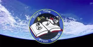Astronaut reading a book in space