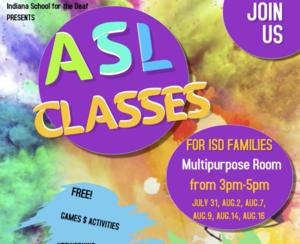 ASL Class Flyer
