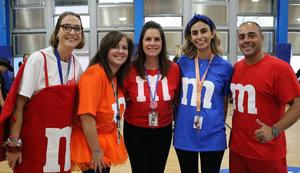 Photo of teachers dressed for Halloween at Tamaques.