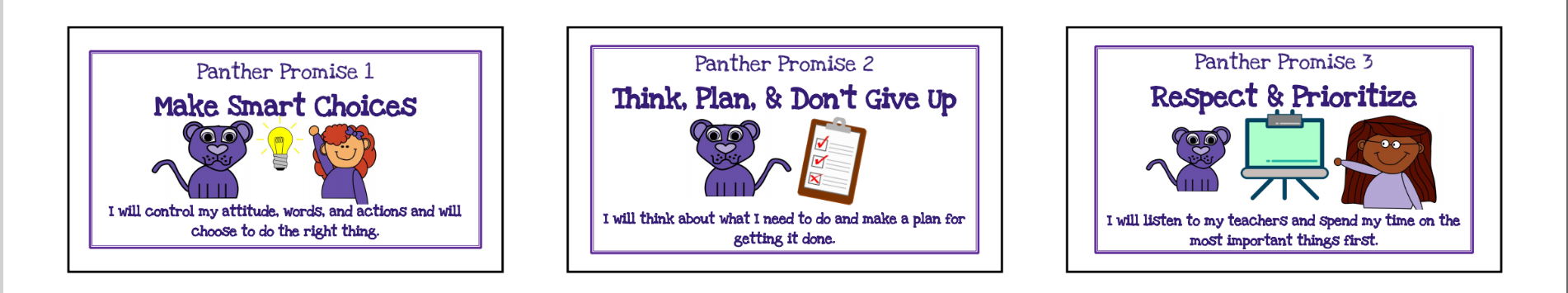 Panther Promises