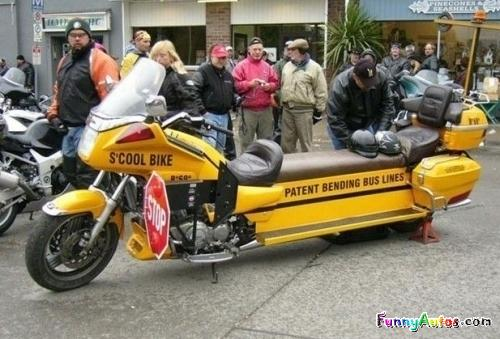 motorcyle school bus