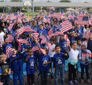 BPUSD_Heath_2: Margaret Heath Elementary students celebrate the legacy of their school's namesake, a longtime teacher, administrator and volunteer in the District.