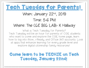 Tech Tuesday for Parents