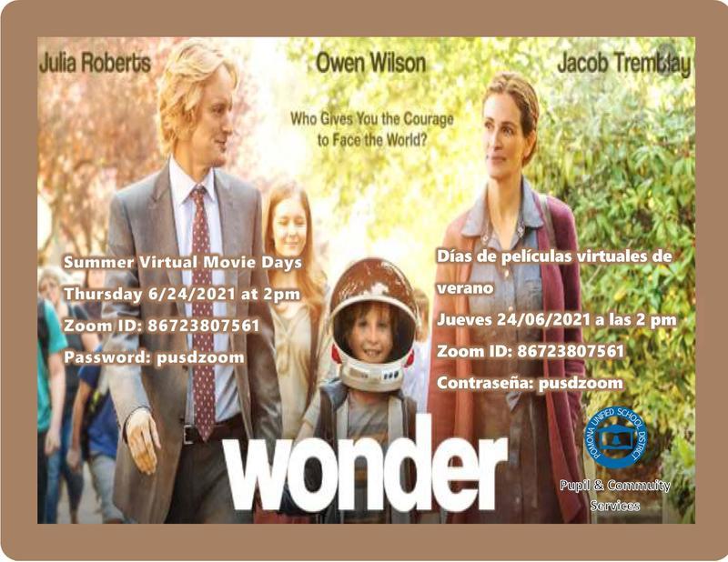 Wonder Summer Movie Flyer