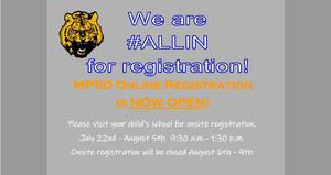 registration announcement