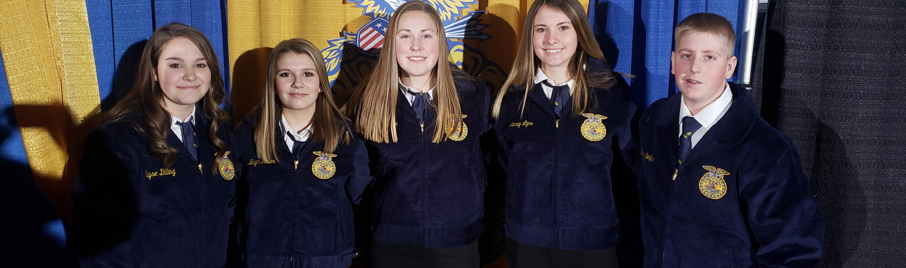 Received their FFA jackets through the PA State FFA Alumni Association program.