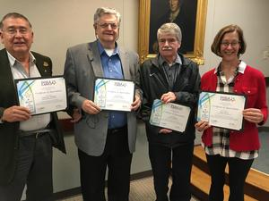 PSBA honored Dr. Larry Borland, Mr. Dennis Pavlik, Mr. Herb Yingling, and Mrs. Jane Tower for their years of service.