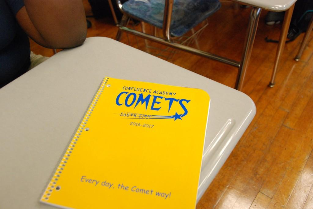 Yellow spiral notebook, COMETS, 2016-17