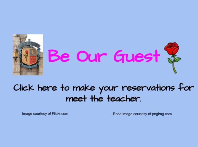 Be Our Guest reservations