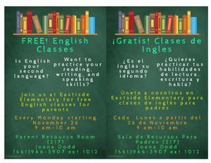 English Class Flyer