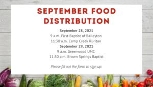 September Food Distribution