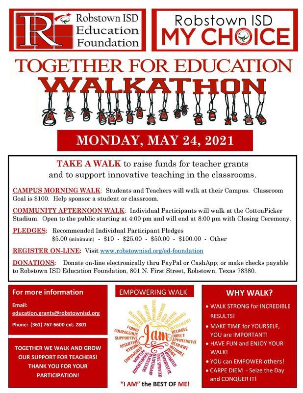 Education Foundation Walkathon- May 24, 2021 Featured Photo