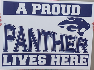 Gananda Dollars For Scholars Selling Proud Panther Signs as Fundraiser