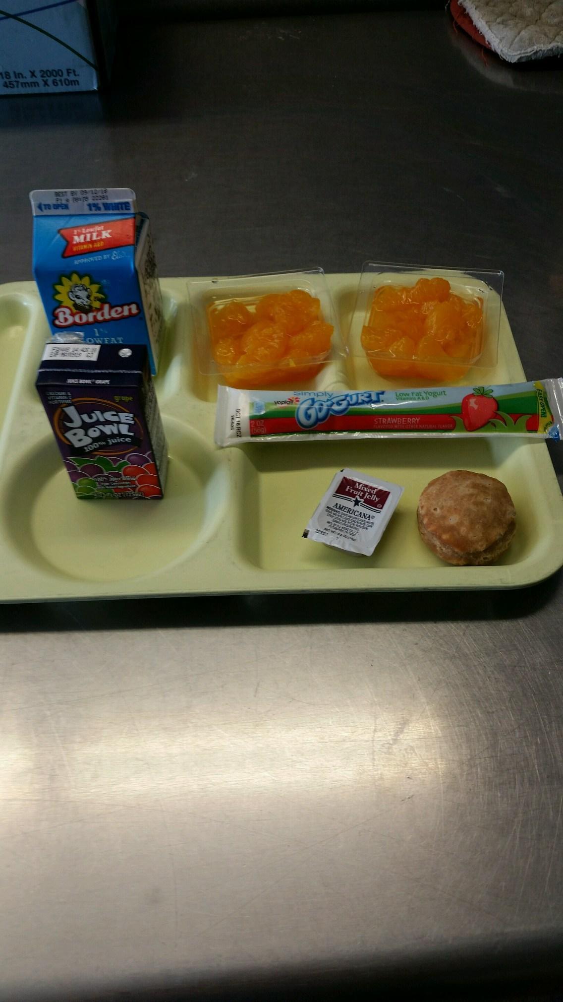 mini biscuit and gogurt