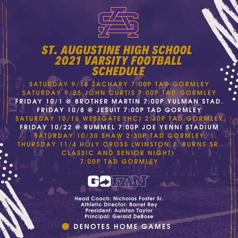 THE 2021 VARSITY FOOTBALL SCHEDULE IS HERE! Featured Photo