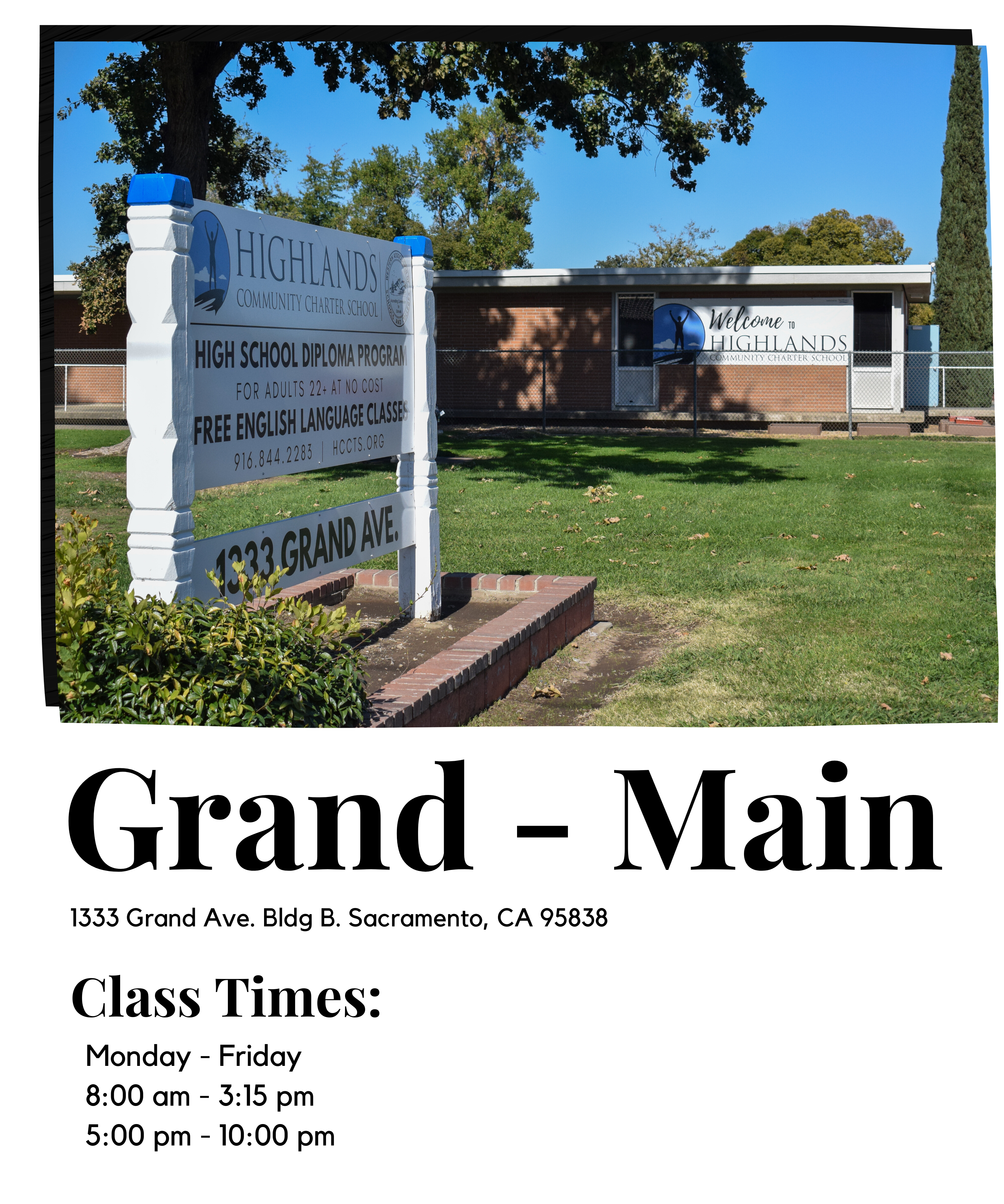 Grand class times