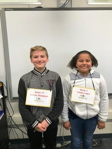 4th Grade Spelling Bee Winners