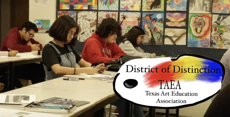 Edinburg North High School Art III Drawing students work on their projects for the Texas Art Education Association's Visual Art Scholastic Event (VASE) state contest during the 2019-2020 school year.