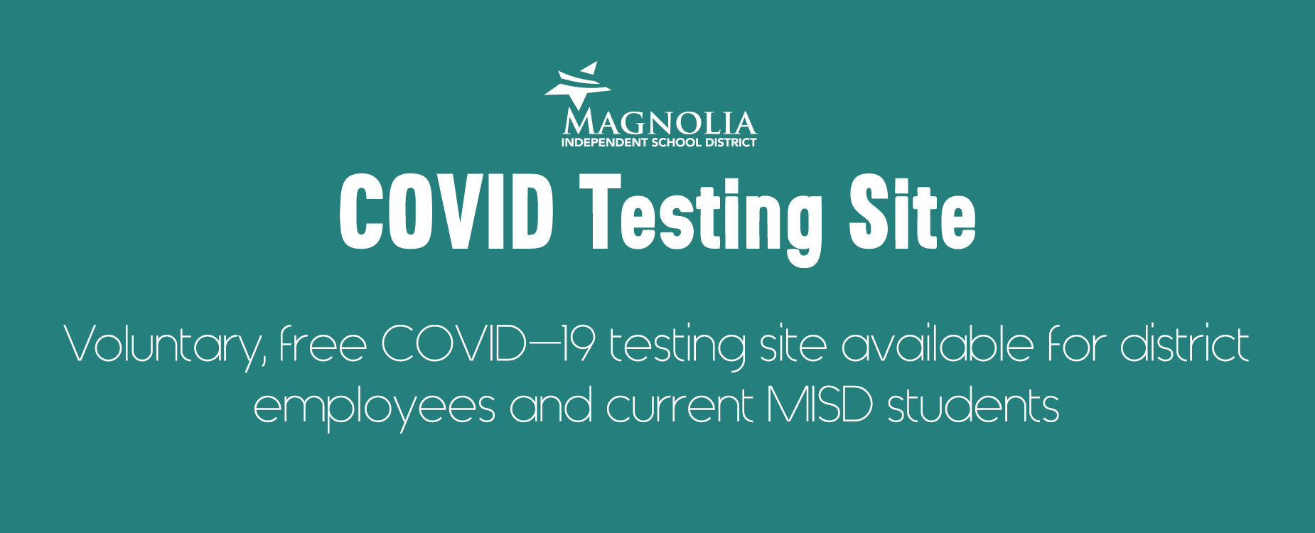 Click for Covid testing site information