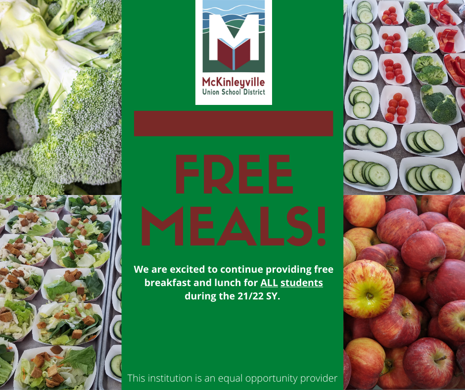 Free meals flyer