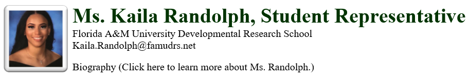Kaila Randolph School Member Student Rep