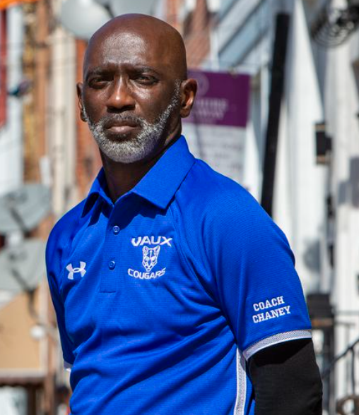 100 Black Men Philadelphia mentoring and coaching young men at Vaux BPHS.