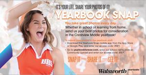 Attention, Chargers! The yearbook staff needs your help now more than ever! The 2021 school year is going to look different for everyone. The good news is this creates plenty of photo opportunities to have in our yearbook. You take great photos every day, and we need those pictures for our yearbook! Whether in school or learning from home, students, parents and others in our school community can now take photos and quickly submit them during sporting events, virtual learning, or anywhere students happen to be. Download the free Yearbook Snap app today, enter our unique access code, 2021, and start sending us your best pictures to be considered for the Charger yearbook!