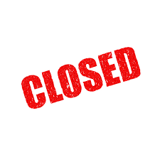 clip art that says closed
