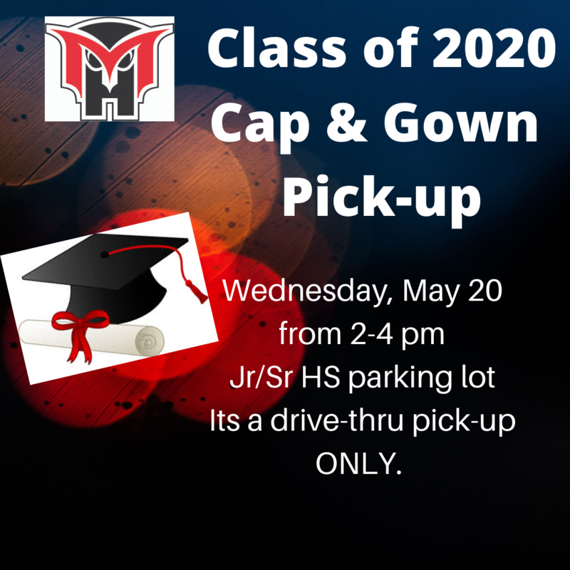 cap & gown pick up flyer