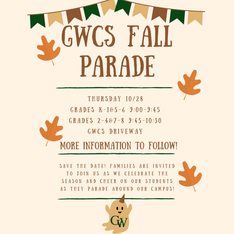 Save the date for the Fall Parade on October 28th! Featured Photo