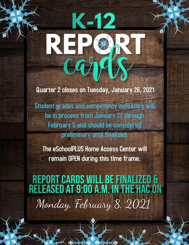 Elementary Report Cards finalized February 8, 2021 Featured Photo