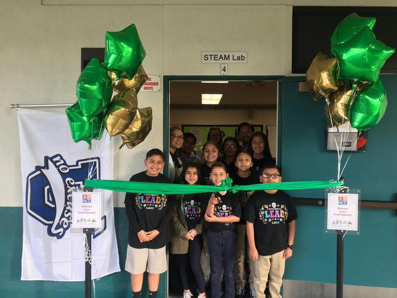 Student Council cutting the ribbon on Opening Day!