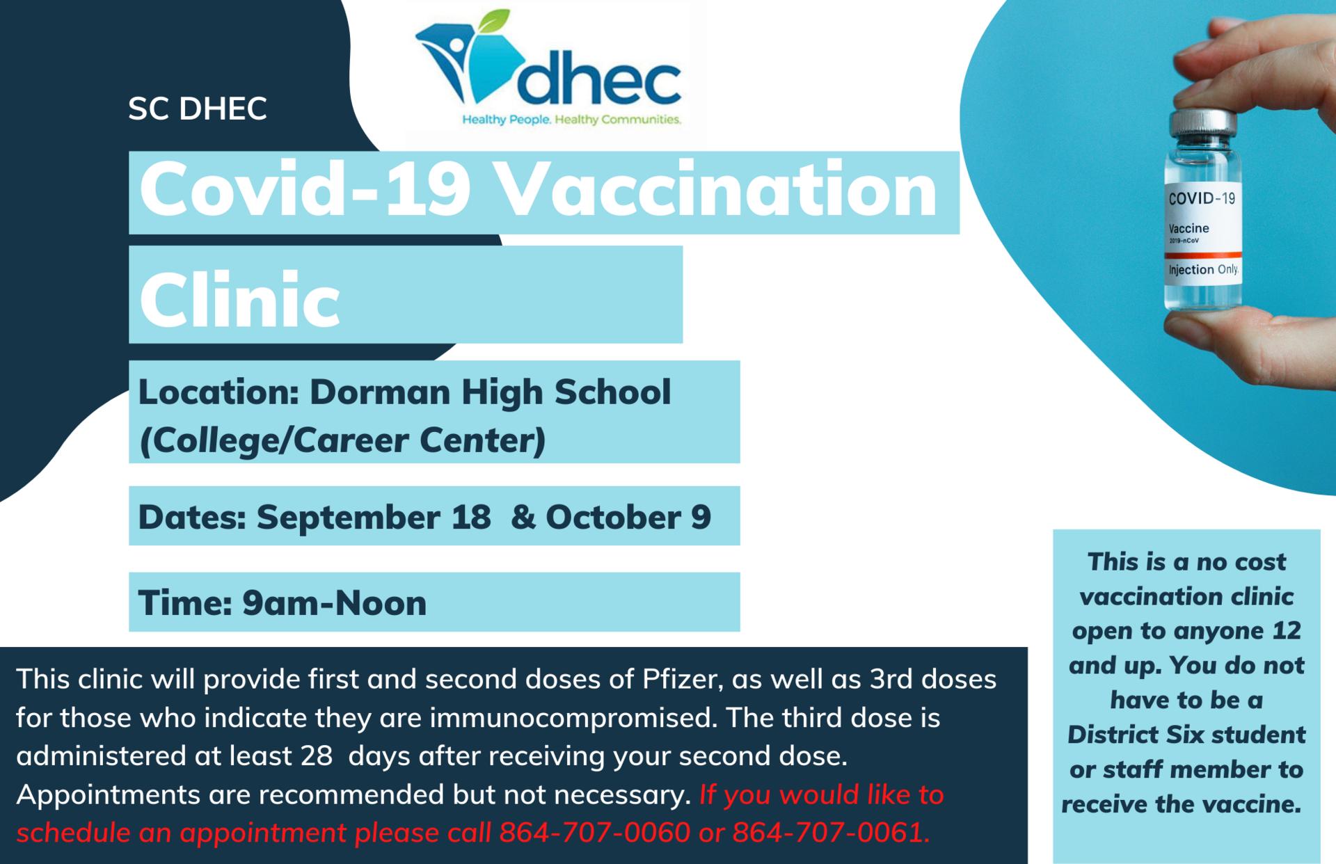 Vaccine Clinic info