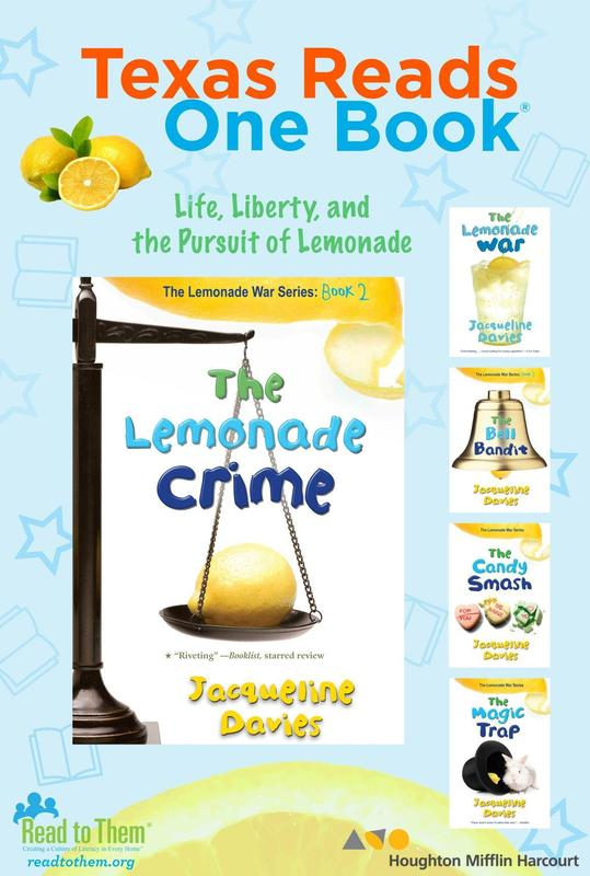 Lemonade crime book cover with lemon and scale