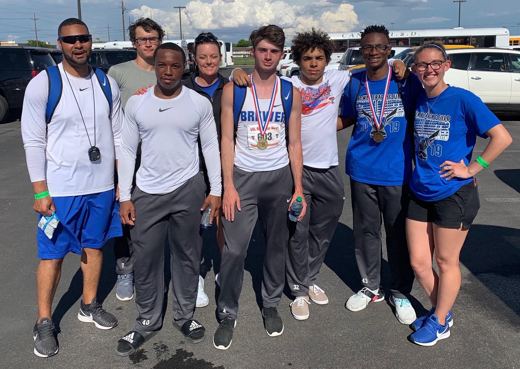 Brewer High School athletes competed at the Regional Track Meet on April 22, and Travis Bradley won first place in the 300 meter hurdles, advancing to the State Track Meet in Austin on May 10!