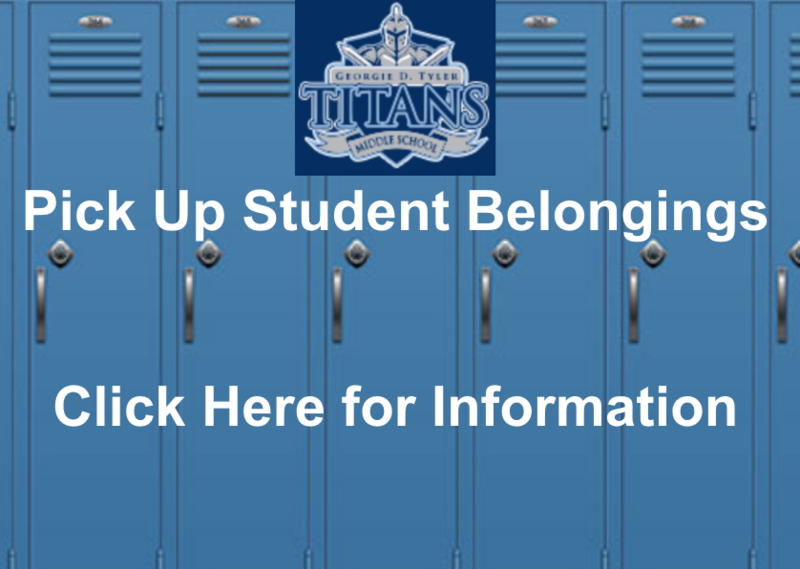 Pick Up Student Belongings Click Here for Information