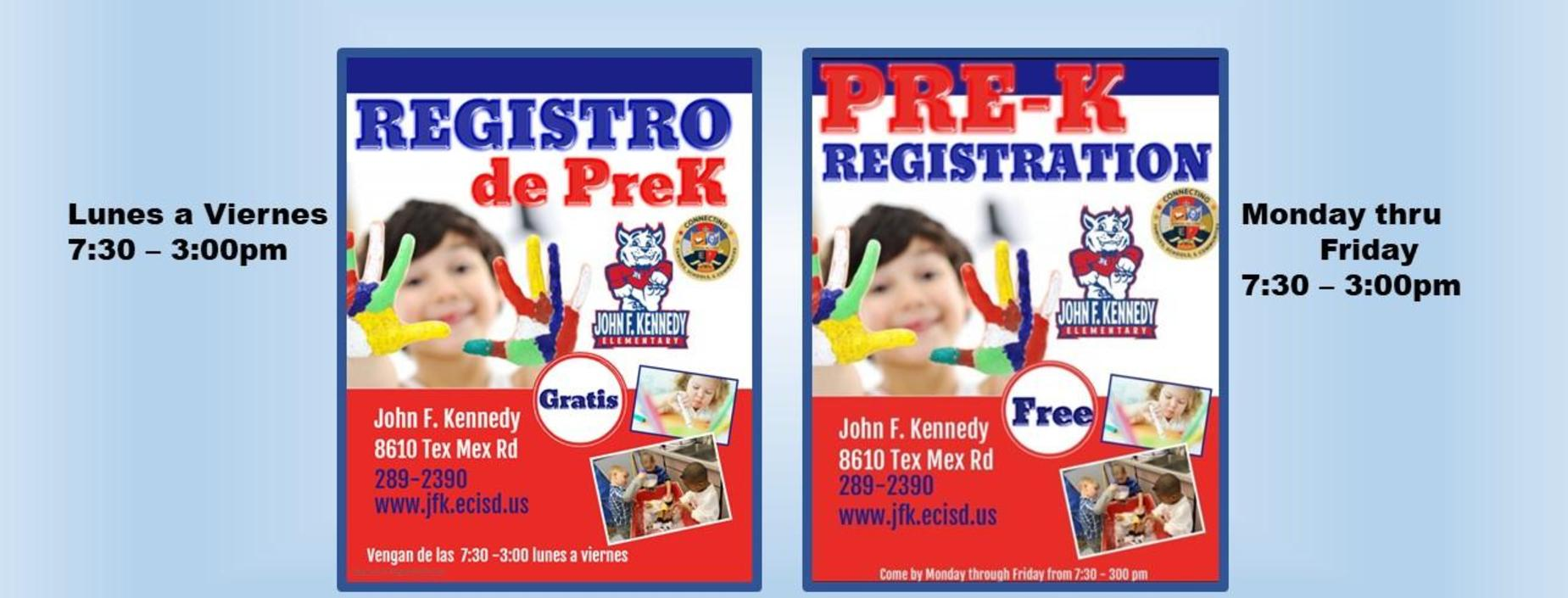 prekinder registration