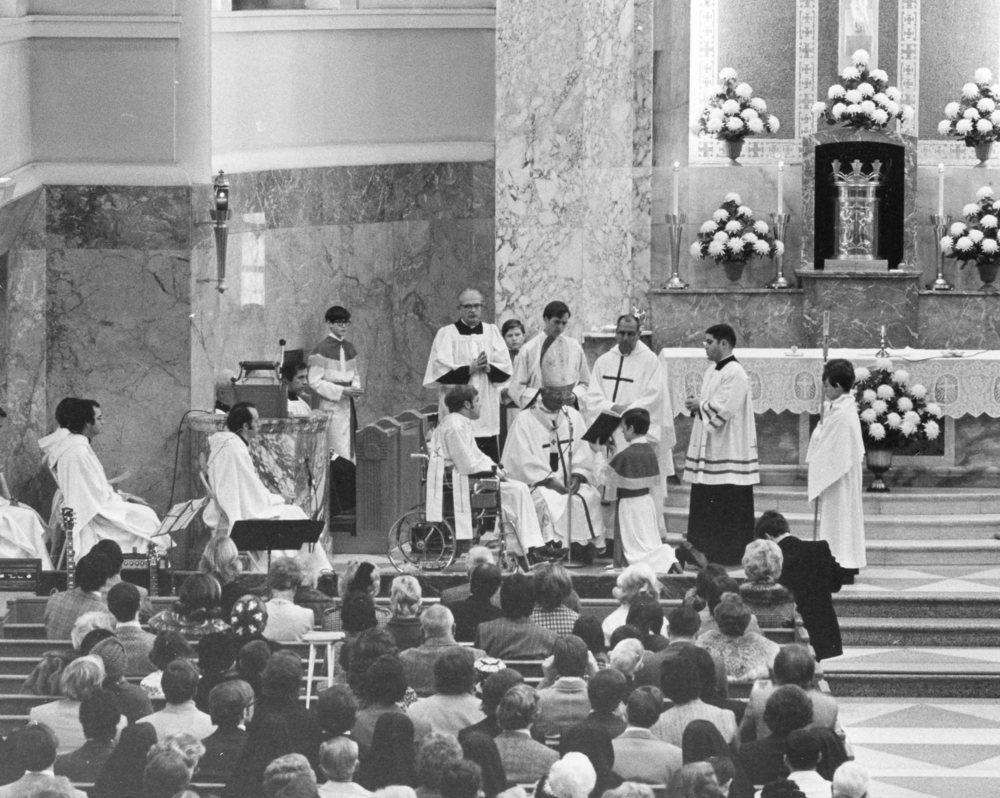Father Bill at mass