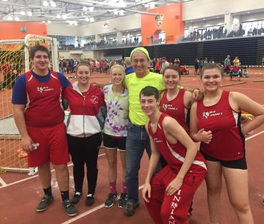 Picture of Indoor Track team at RIT December 2017