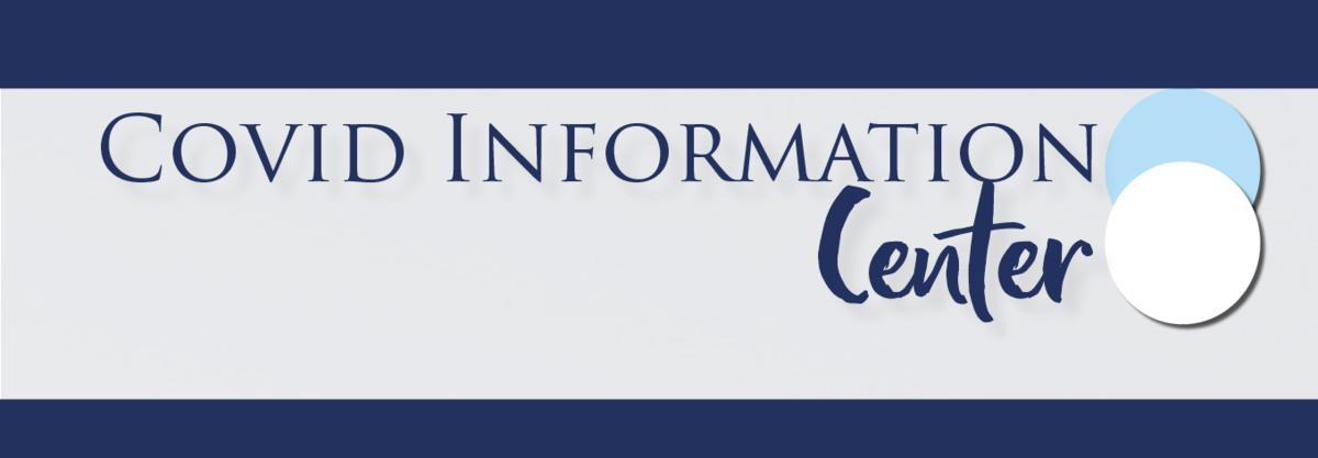 Covid information center graphic