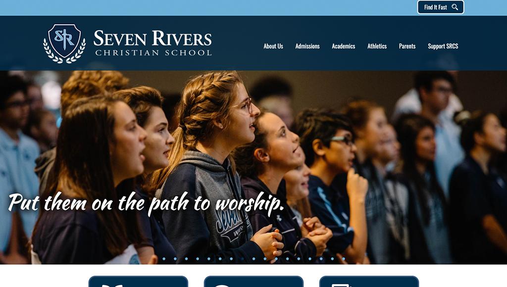 website for Seven Rivers Christian School