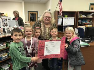 Cranbury students wish a happy retirement to Mrs. Murphy