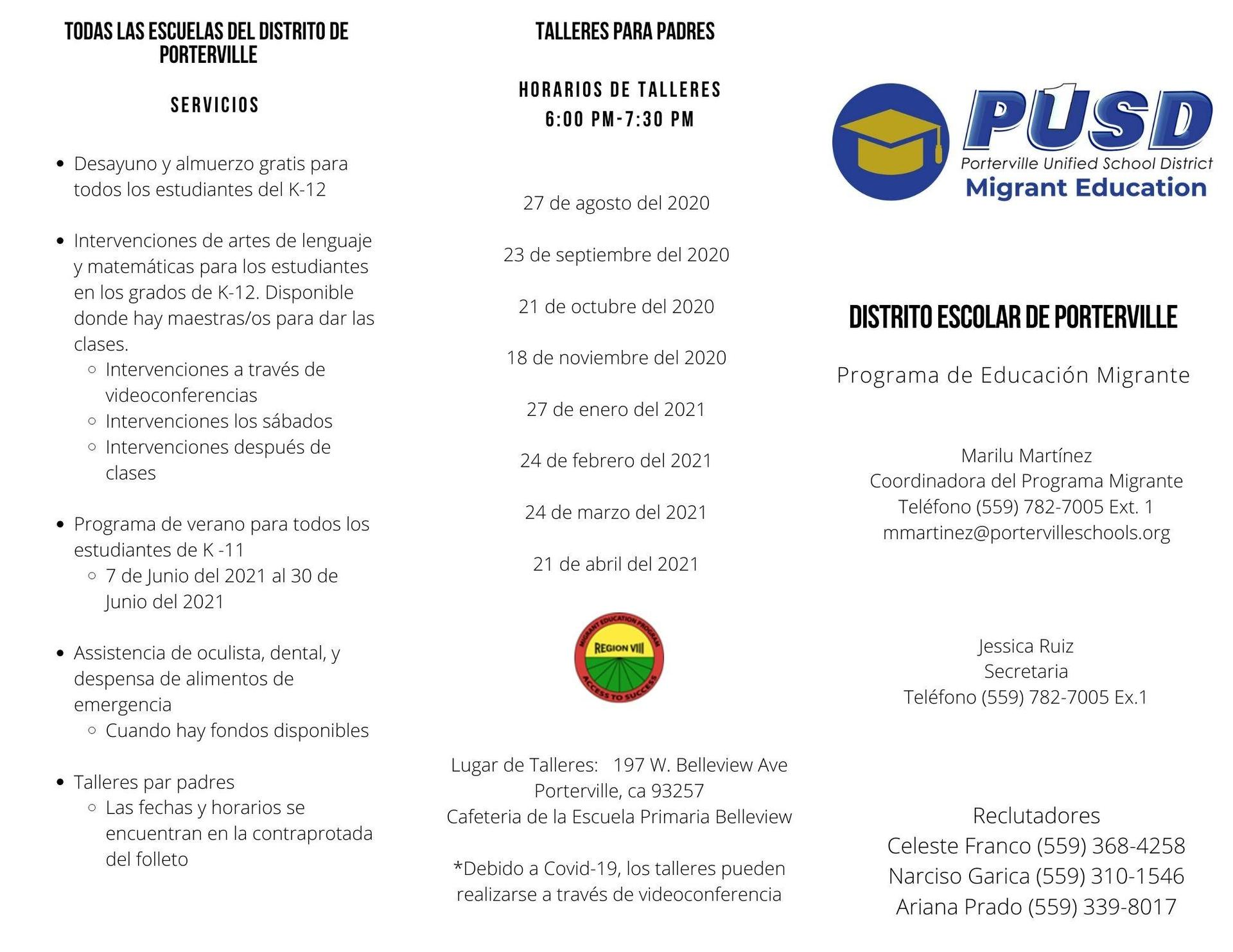 Migrant Ed Brochure