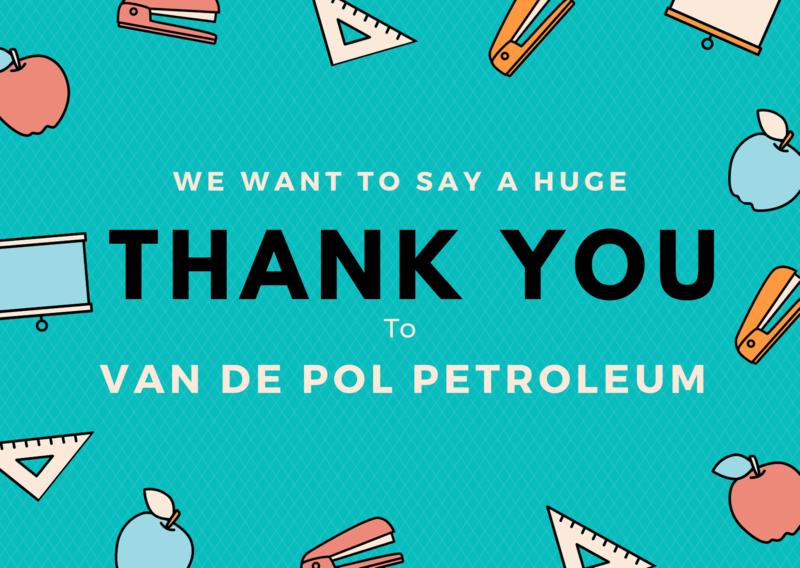 Thank You Van De Pol Petroleum Featured Photo